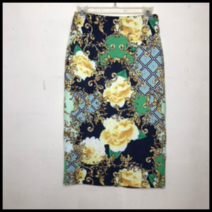 NWT Stretch Floral Pencil Skirt